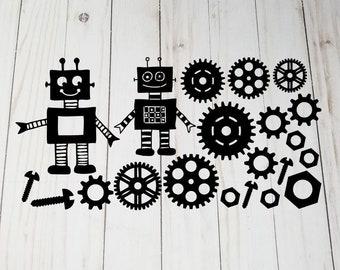 Robot Lettering Etsy