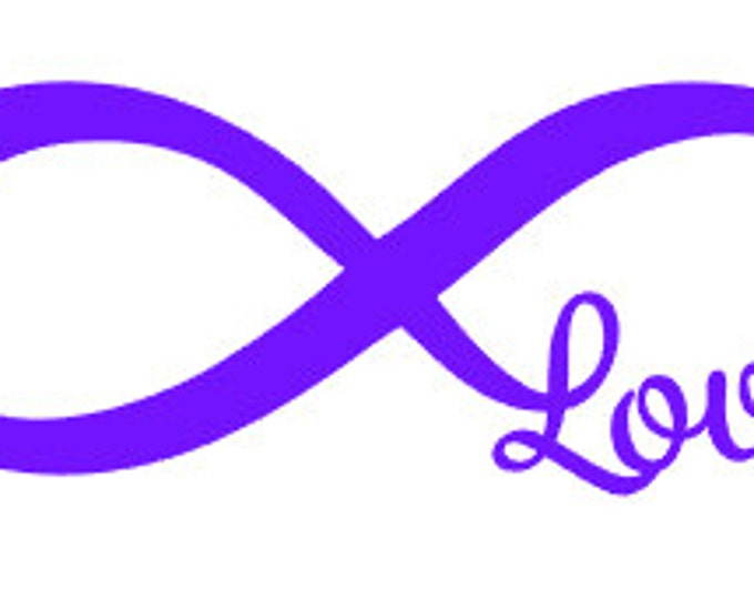"""FREE SHIPPING //  7x2.6"""" Infinity Love Car Decal"""