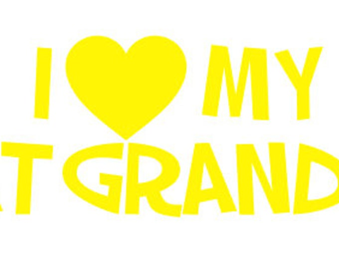 """FREE SHIPPING //  8x1.894"""" I Love My Great Grandkids Car Decal"""