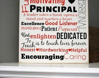 """12x14"""" Principal - Teacher - Subway Art Wood Sign"""