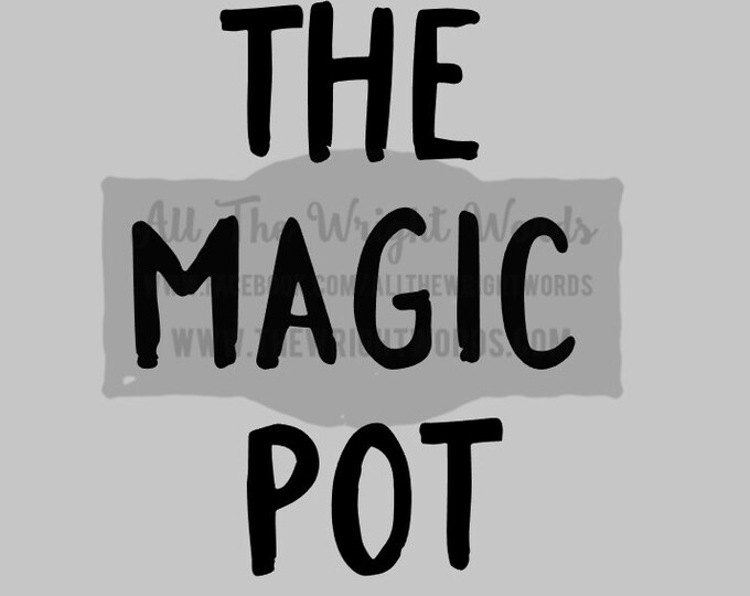 """FREE SHIPPING //  3.8x5"""" The Magic Pot Vinyl Decal - Pressure Cooker Decal - Insta Pot - IP - Decal  - Cooking - Home - Kitchen"""