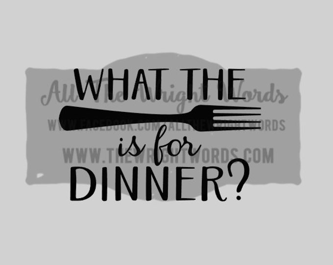 """FREE SHIPPING //  6x4"""" What The Fork Is For Dinner? Vinyl Decal - Pressure Cooker, IP. Decal, Cooking, Home, Kitchen, Stickers, Insta Pot"""