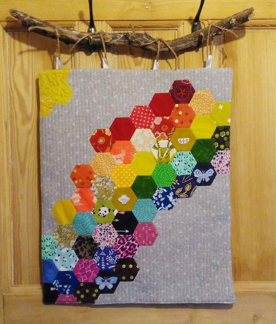 Wall Hanging Rainbow Wall Art Mini Quilt Room Etsy