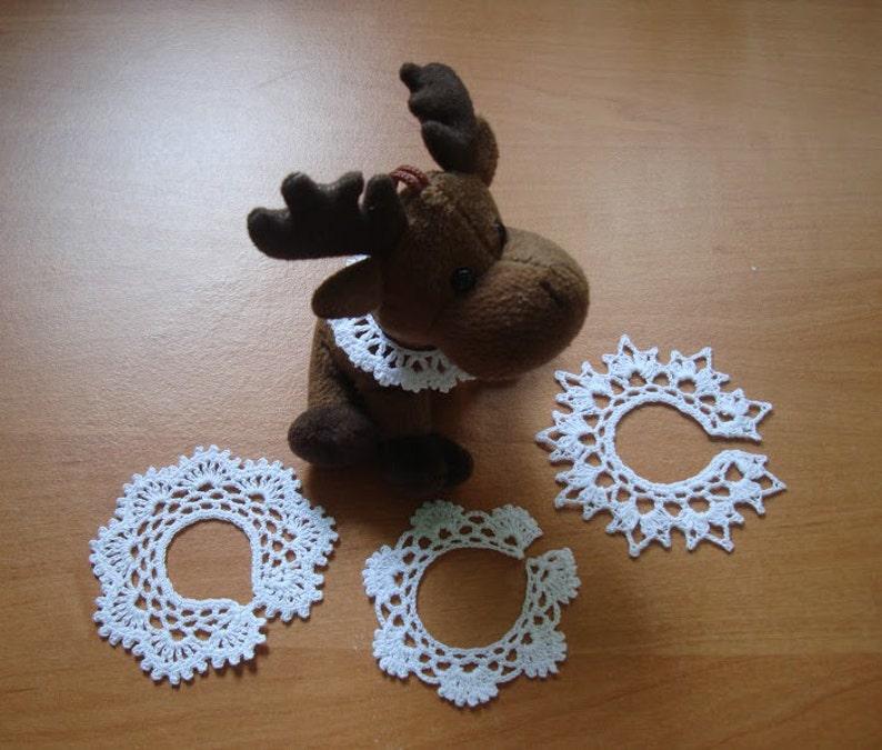 Crochet Miniature Collar Necklace for Dolls Toys  Handmade image 0