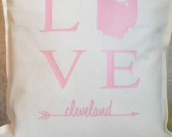 Home Pillow Cover, Personalized Pillow Cover, State Pillow Cover, Customized Pillow Cover
