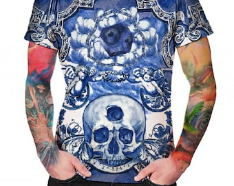 Blue Ceramic Dreams  - T-shirt - Full print Shirt