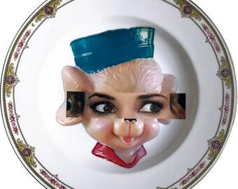 Winona Ryder - Kitsch Face - Vintage Porcelain Plate - #0579