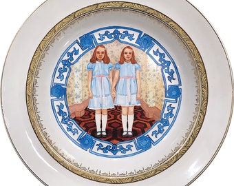 The Shining Twins - Faience Porcelain Plate - #0569