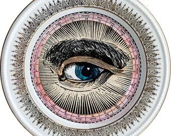 Lover's Eye - Engraved - Vintage Fine Bone China - #0717