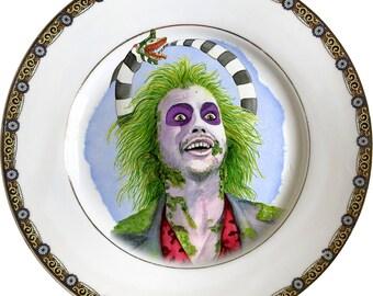 Betelgeuse - Beeteljuice - Vintage Porcelain Plate - #0598