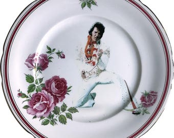 Elvis Presley - The King - Vintage Porcelain Plate - #0577