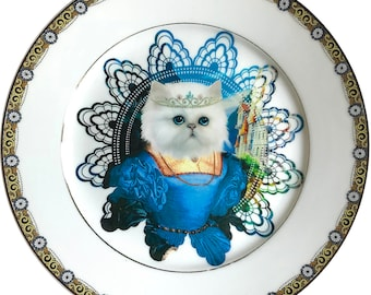 Persian Queen - Persian Cat - Vintage Porcelain Plate - #0598
