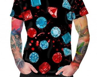 Gemstones Black - T-shirt - Full print Shirt