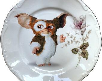 80s Puppy - Gizmo - Gremlins - Vintage Porcelain Plate - #0567