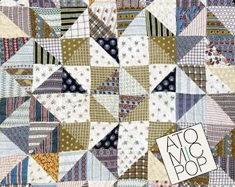 Instant Download // Antique Patchwork Quilt Textile Digital Papers // Arts and Crafts // Digital Download