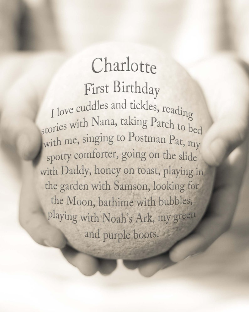 First Birthday Gift Personalized Baby