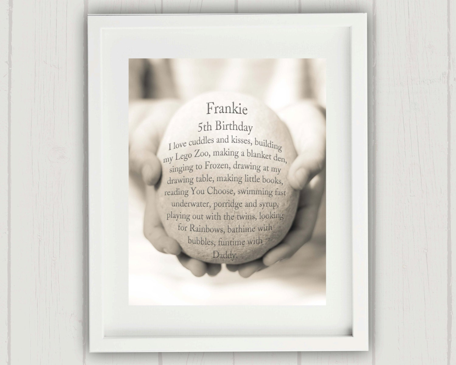 Childs Birthday Gift Personalized First
