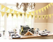 Detective Sleuth Mystery Crime Scene Printable Banner- Printable DIY Collection