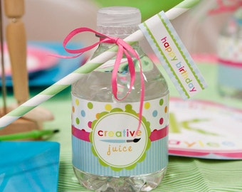 Polka Dot Arts & Crafts Birthday - Printable Customized Package