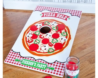 Pizzeria Pizza Party Pizza Hole Game - Printable Customized 20 x 30 Poster