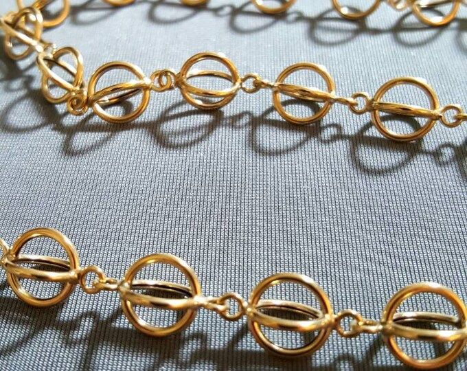 14K Yellow Gold Necklace in a Fancy Link Design.