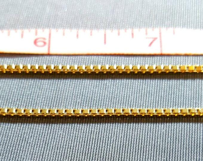 18K Yellow Gold 22 Inch Box Style Chain.