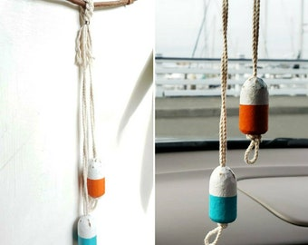 Two Buoy Wall Hanging - upcycled wine cork