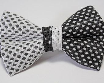 Black & White Jersey Bow Tie