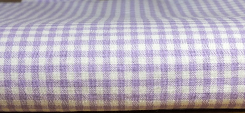Fabric package cotton Vichykaro lilac image 0