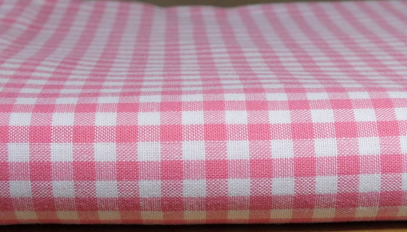 Fabric package cotton Vichykaro pink image 0