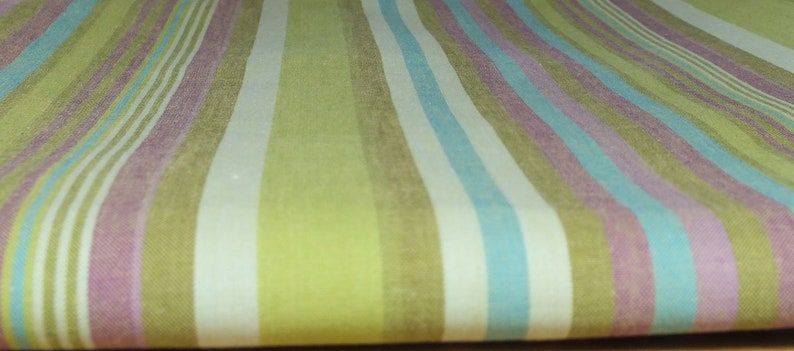 Fabric package cotton stripes green image 0