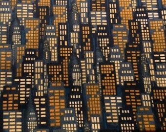Fabric pack New York - blue - ochre - skyscraper - Makower