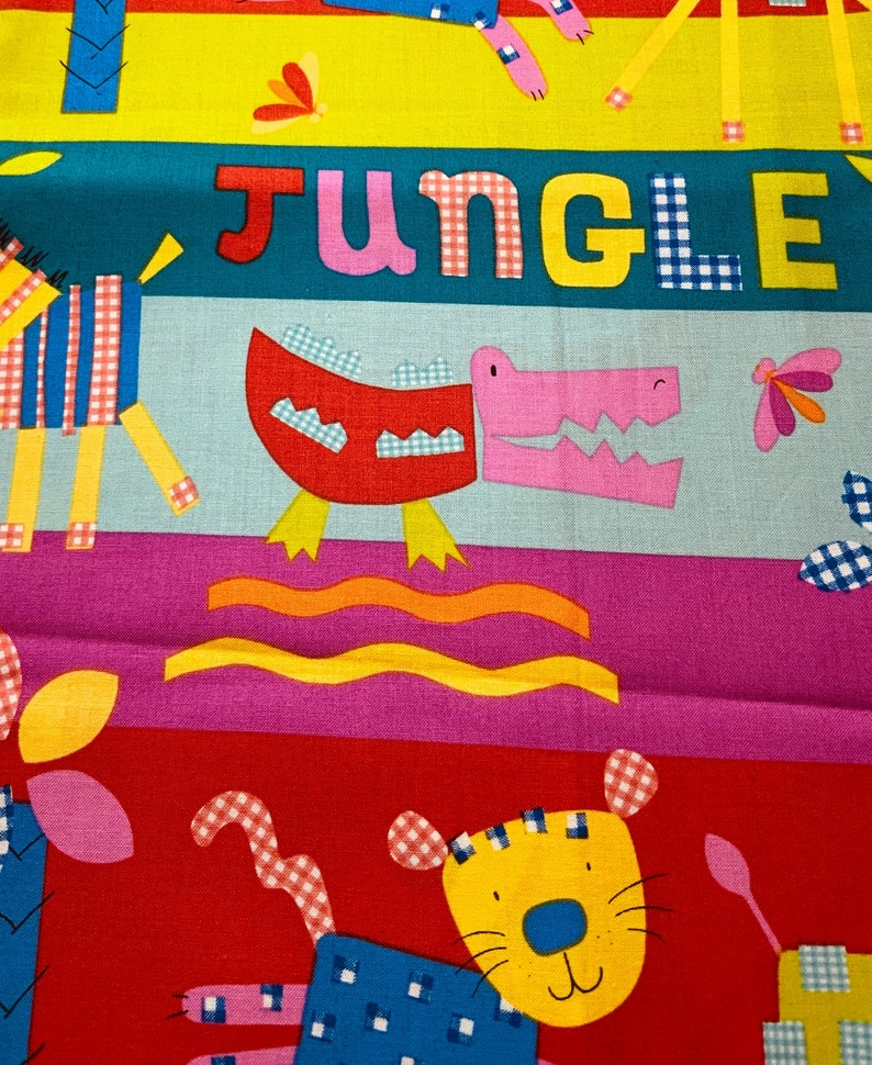 Fabric package  cotton animal motifs image 0