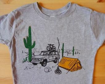 Desert Camping • 4Runner • Saguaro Shirt • Toddler T Shirt • Cactus Design • Camping Shirt • Unisex Kids T Shirt