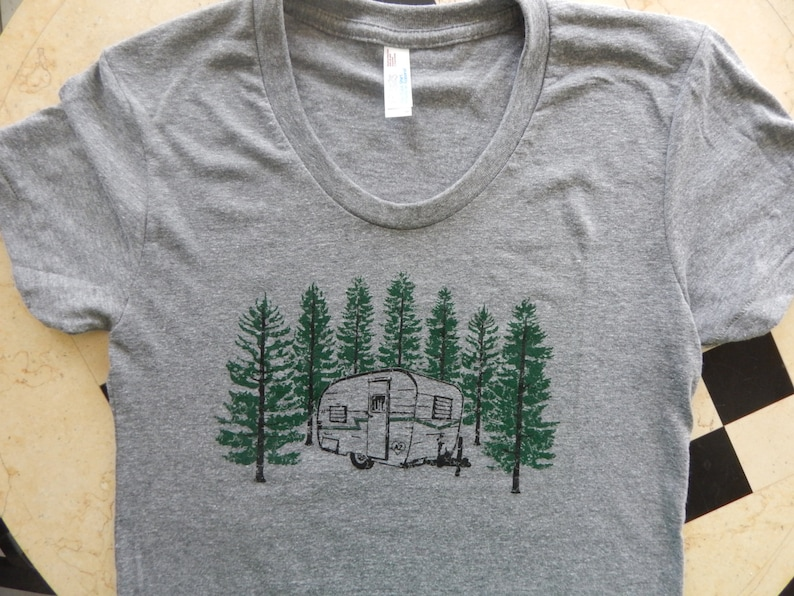 Ready to Ship Men's/Unisex Screen Printed VINTAGE Camper image 0