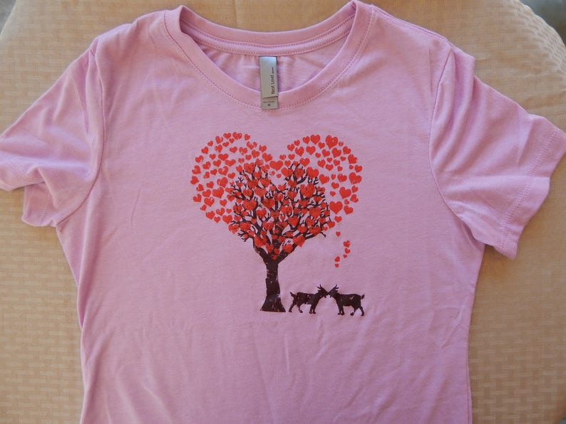 Ready to Ship: Women's Goat Love Tri-blend t-shirt Size image 0