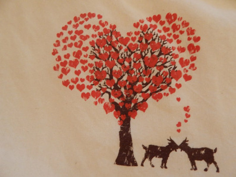 Screen printed GOAT LOVE canvas shopper TOTE image 0