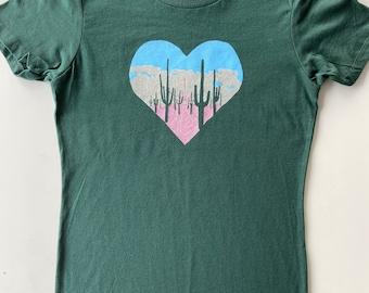 Sunset • Unisex 100% cotton T Shirt • Saguaro Print • Cactus Design • Desert Life