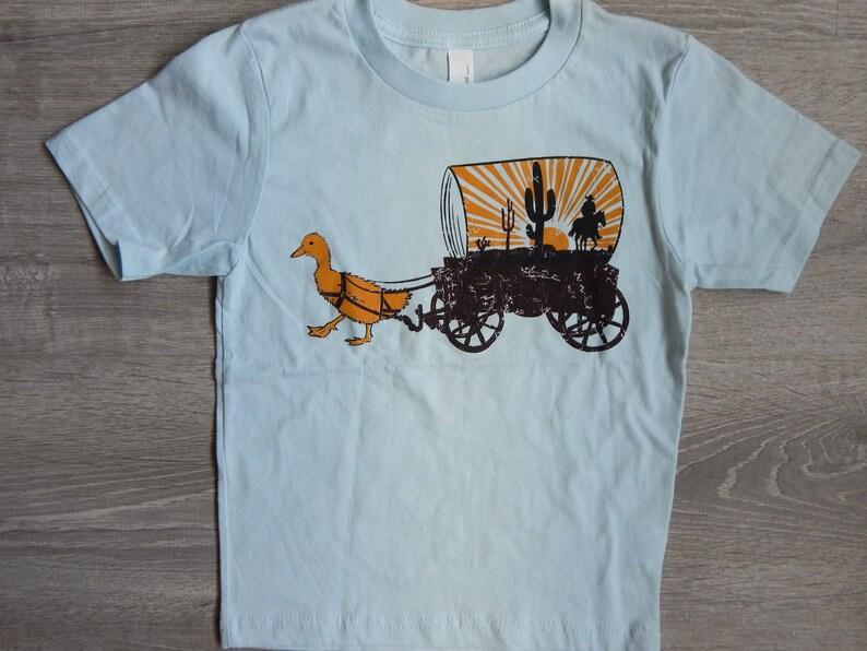 KIDS Duck Wagon T-shirt Size XS-XL image 0