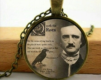 Edgar Allan Poe THE RAVEN Pendant Necklace