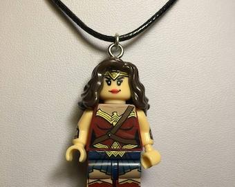 Wonder Woman Lego Necklace