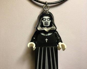 VALAK Demon Nun Lego Necklace