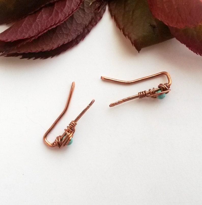 Minimalist ear pin Turquoise ear pin Turquoise earring Ear climber Minimalist jewelry Minimalist earring Modern earring Turquoise