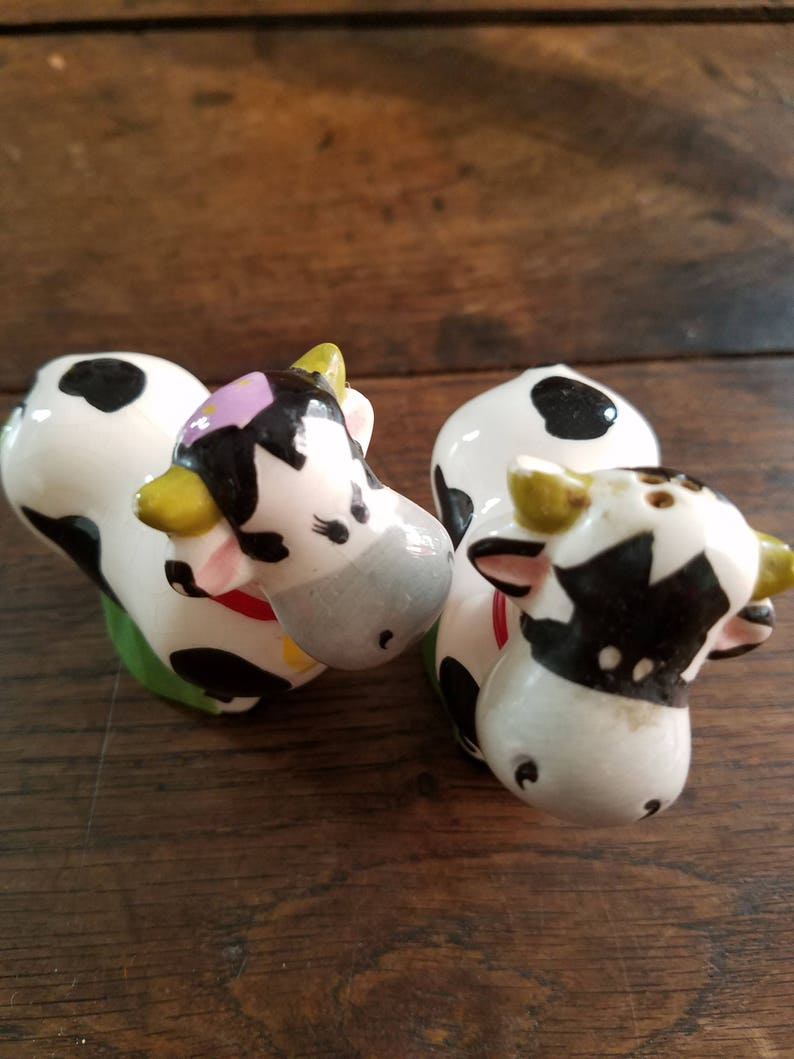 Vintage Holstein Cow Salt and Pepper Shakers