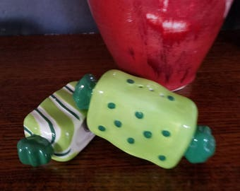Wrapped Hard Candy Salt & Pepper Shakers