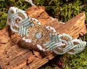 Moonstone Bracelet, Macrame Bracelet, Sacred Geometry Bracelet, Birthstone Bracelet