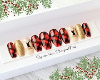 Holiday Nails Etsy