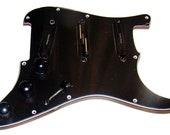Loaded Wired Pickguard for Stratocaster, Black, Seymour Duncan Pickups
