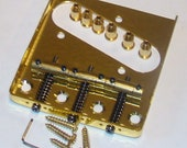 Replacement Telecaster Bridge, Gold with Three Saddles