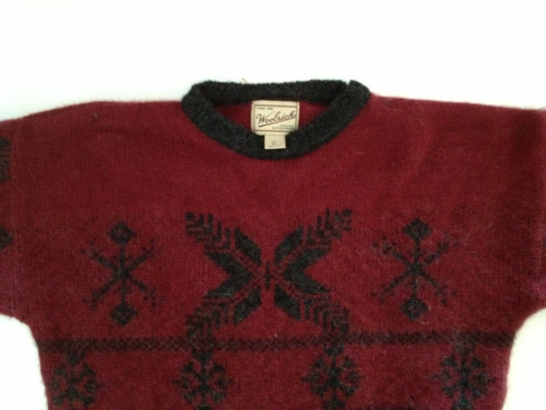 fc552bf7fd04ef Woolrich Ski Sweater Scandinavian Inspired Design   Cranberry